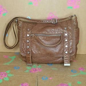 Aeropostale Brown Faux Leather Handbag Purse